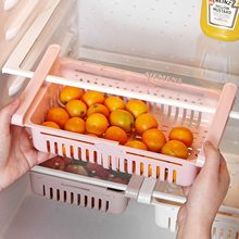 цена на 4PCS  Kitchen Refrigerator Storage Basket Rack Fridge Freezer Shelf Holder Pull-out Plastic Drawer Organiser Space Saver
