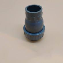 Kulkowy zawór zwrotny z PVC zawór zwrotny zawór zwrotny z klapą z tworzywa sztucznego zawór zwrotny pionowy zawór zwrotny PVC szary ID25-90mm tanie tanio Piłka