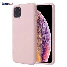 Samtsui Liquid Silicone Case For Iphone11 Iphone11Pro Iphone11ProMax 2019 New Mobile Phone Back Full Cover Capa Coque Fundas