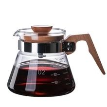 Percolator-Maker Dripper Coffee-Kettle Glass Server Barista Brewer V60 Pour New Heatproof