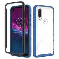 Funda de teléfono para Motorola One, Marco Vision P40, Hyper Action, Fusion Plus, 5G, Ace Pro, Zoom, protección de armazón transparente pesada