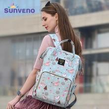 Sunveno Mommy Diaper Bag Large Capacity Baby Nappy Bag Designer Nursing Bag Fashion Travel Backpack Baby Care Bag for Mother Kid