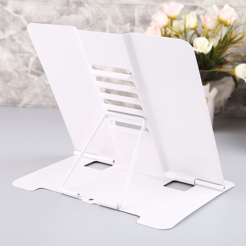 Portable Metal Adjustable Reading Book Holder Support Document Shelf Bookstand 4