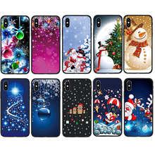 Christmas Pattern Black Soft Case for Apple iPhone 7 7 Plus 8 8Plus X Xs 10 XS Max XR 5s 5 SE 6 6s Plus Phone Cover Coque black cover japanese samurai for iphone x xr xs max for iphone 8 7 6 6s plus 5s 5 se super bright glossy phone case