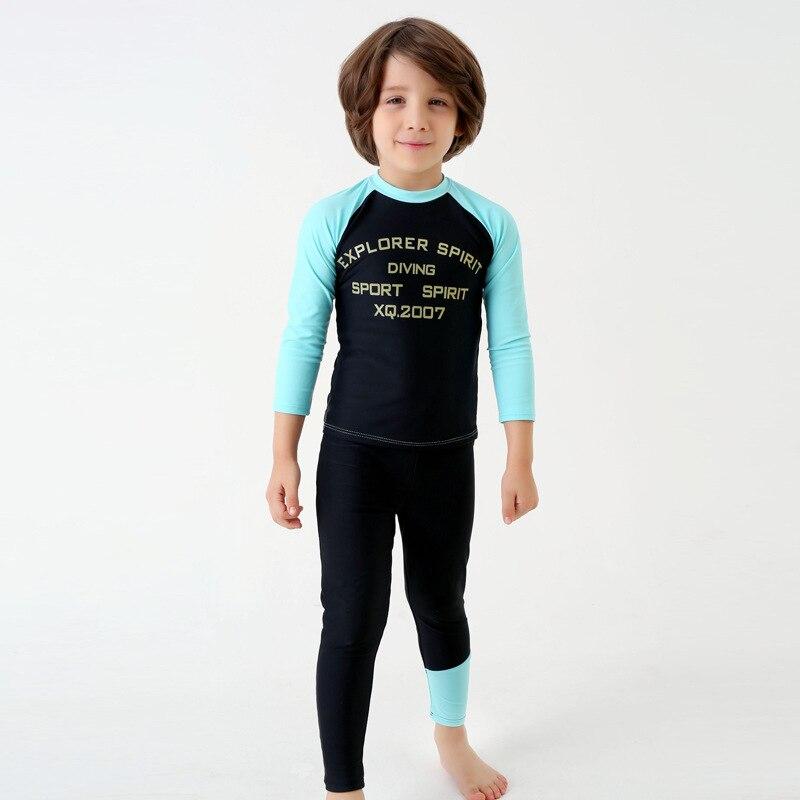 2018 Xiqi New Style KID'S Swimwear BOY'S Jellyfish Service Sun-resistant Boy Split Swimsuit Sports Bathing Suit Wholesale