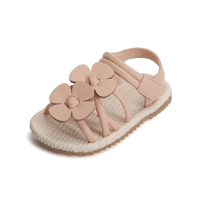Microfiber Flower Girls Shoes Baby Sandles Children Kids Toddler First Walkers Beach Garden High Quality Summer Crib Flat Angel