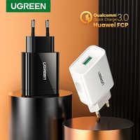 Ugreen usb carga rápida 3.0 qc 18 w carregador usb qc3.0 carregador de parede rápido carregador do telefone móvel para samsung s10 huawei xiaomi iphone