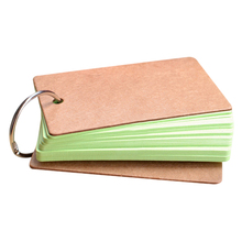 Portable Buckle Binder Notes Flash Cards Memo Pads DIY Blank Card Stationery GV99 цена и фото
