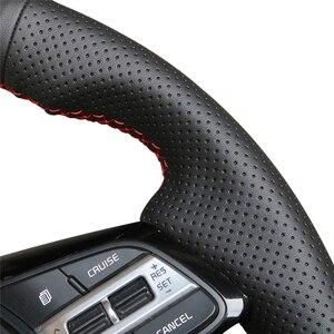 Image 4 - Zwart Pu Kunstleer Diy Hand Gestikt Auto Stuurhoes Voor Kia K5 Optima 2019 Cee Ceed 2019 Forte Cerato (Au) 2018