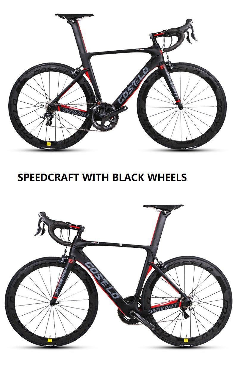 Costelo Complete Bike Carbon Fiber Road Bicycle Bici Completa Bike Frame Groupset Wheel Bicicleta Bicycle Group DI2