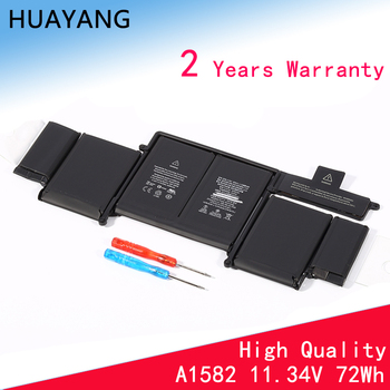HUAYANG HIGH qualityA1502  A1582 Battery for apple MacBook Pro 13 Retina A1502 2015 year With Tools new topcase with uk keyboard for macbook pro retina 13 3 a1502 2013 2014 years