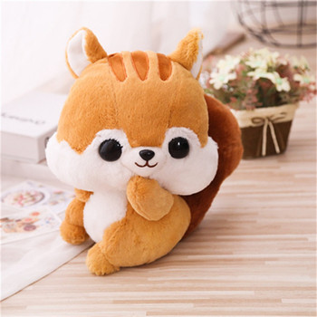 Cute Squirrel Long Tail Mouse Plush Toy Stuffed Animals Plushies Toys Kawaii Soft Plushie Cotton Pillow Cushion for Children