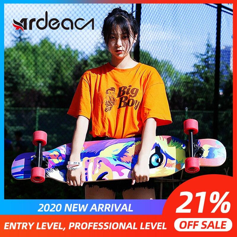 ADREA Skateboard  Long Board MS406 118cm/46.5in Longboard 7in Aluminium Truck Skate Board Maple Deck Patins Grip Tape Skateboard