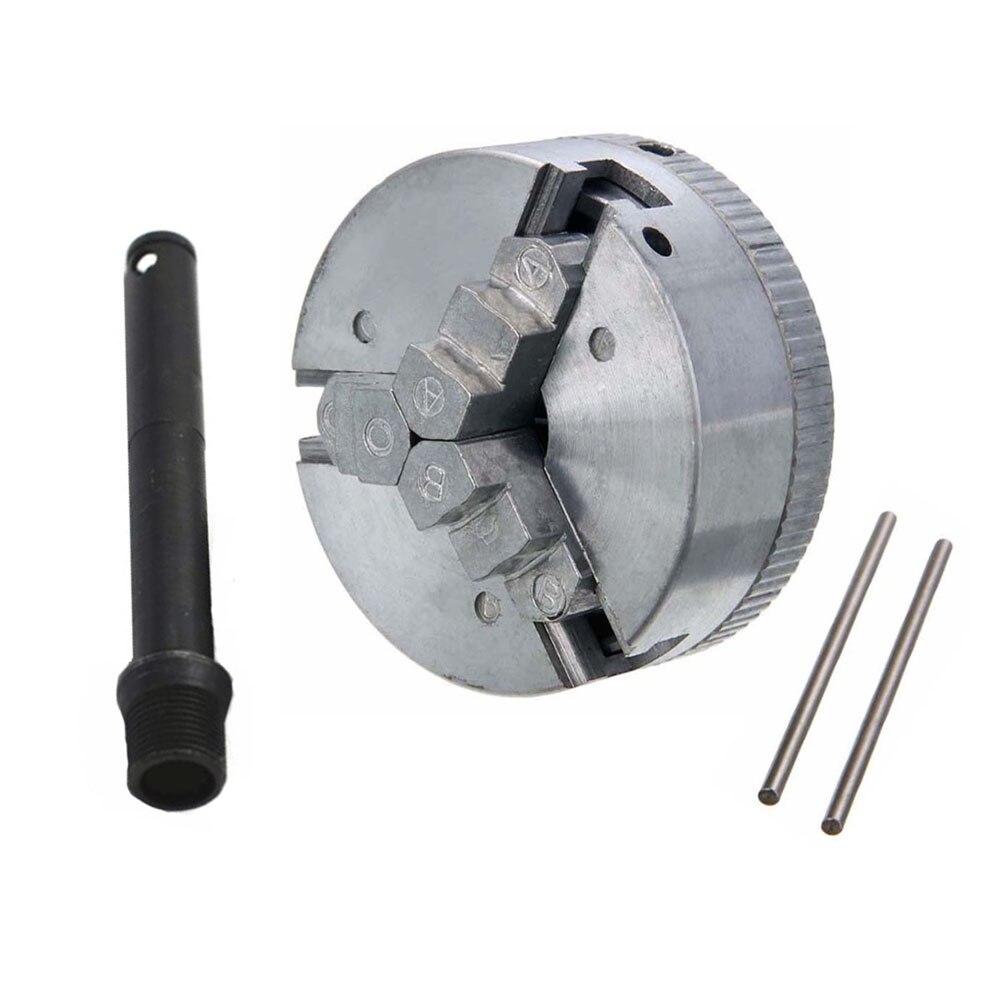 Mini portabrocas Z011 de aleación de Zinc, abrazadera de torno de 3 Mordazas con 2 llaves de mandril para máquina de torno CNC Pinza  - AliExpress