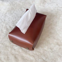 Leather tissue box Suitable for car and restaurant tissue storage