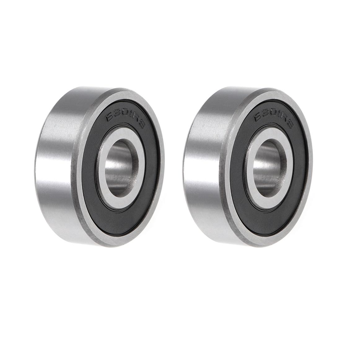 Uxcell ABEC-3 Bearings, 6200-6300 Ball Bearing 6301-2RS 2pcs