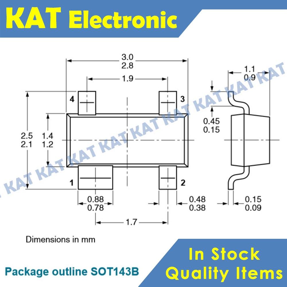 10PCS/Lot BCV64B Marking Code C96 C6 SOT143B PNP General-purpose Double Transistor