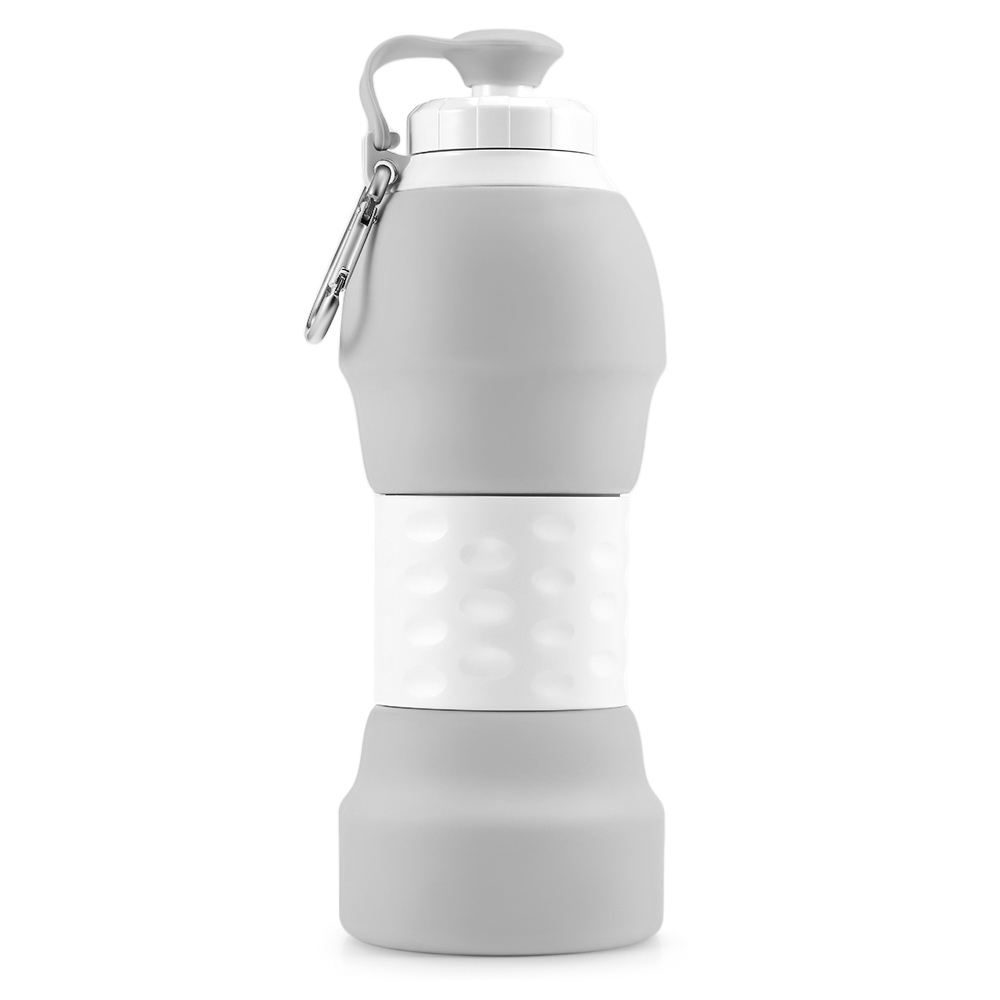 Hca48fb3fcaed4ed497000f84a5727620O 500ML Portable Silicone Water Bottle Retractable Folding Coffee Bottle Outdoor Travel Drinking Collapsible Sport Drink Kettle
