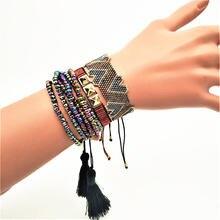 Женский браслет с сердечком rttooas браслеты сердечками miyuki