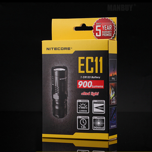 Image 2 - NITECORE Wholesale EC11 +IMR 18350 Rechargeable Battery 900LM White+Red LEDs Flashlight Waterproof Rescue Outdoor Search Camping