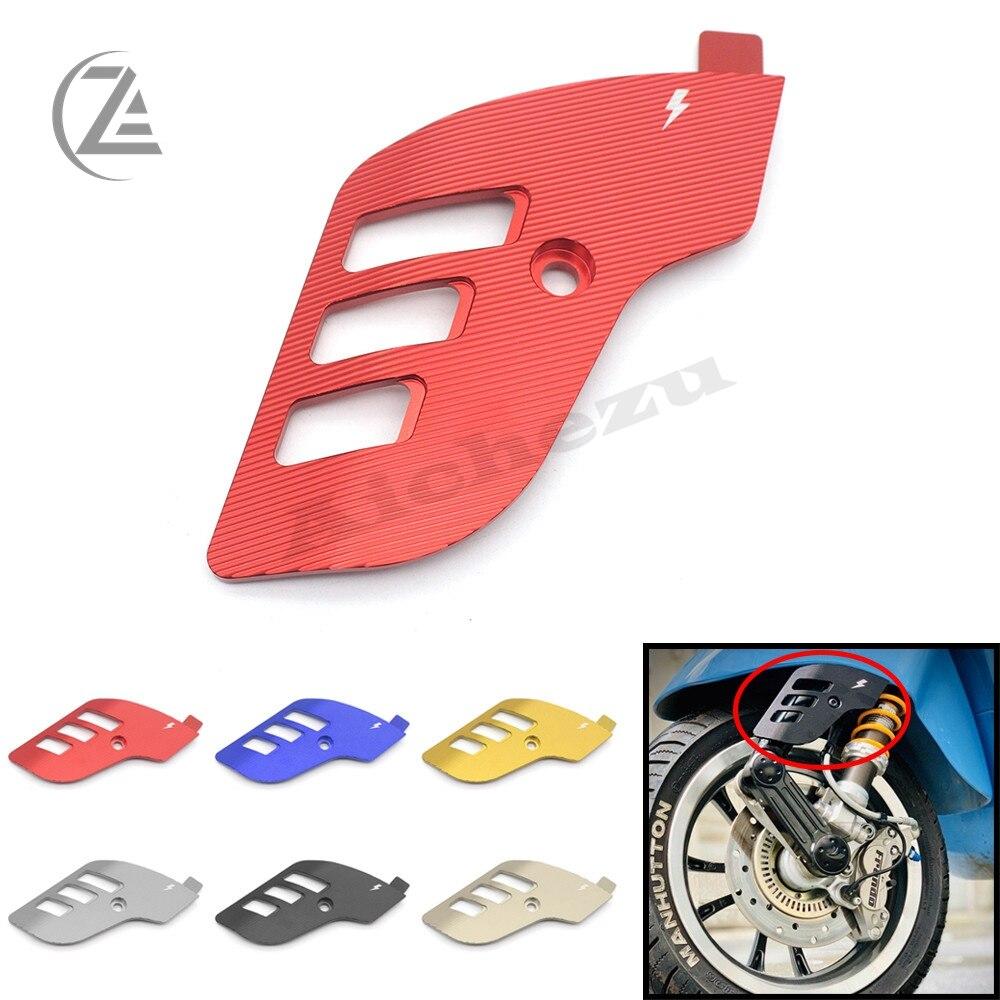 ACZ accesorios de la motocicleta CNC aluminio basculante cubierta de rueda delantera Protector lateral para Piaggio Vespa Sprint Primavera 150, 2013-2020