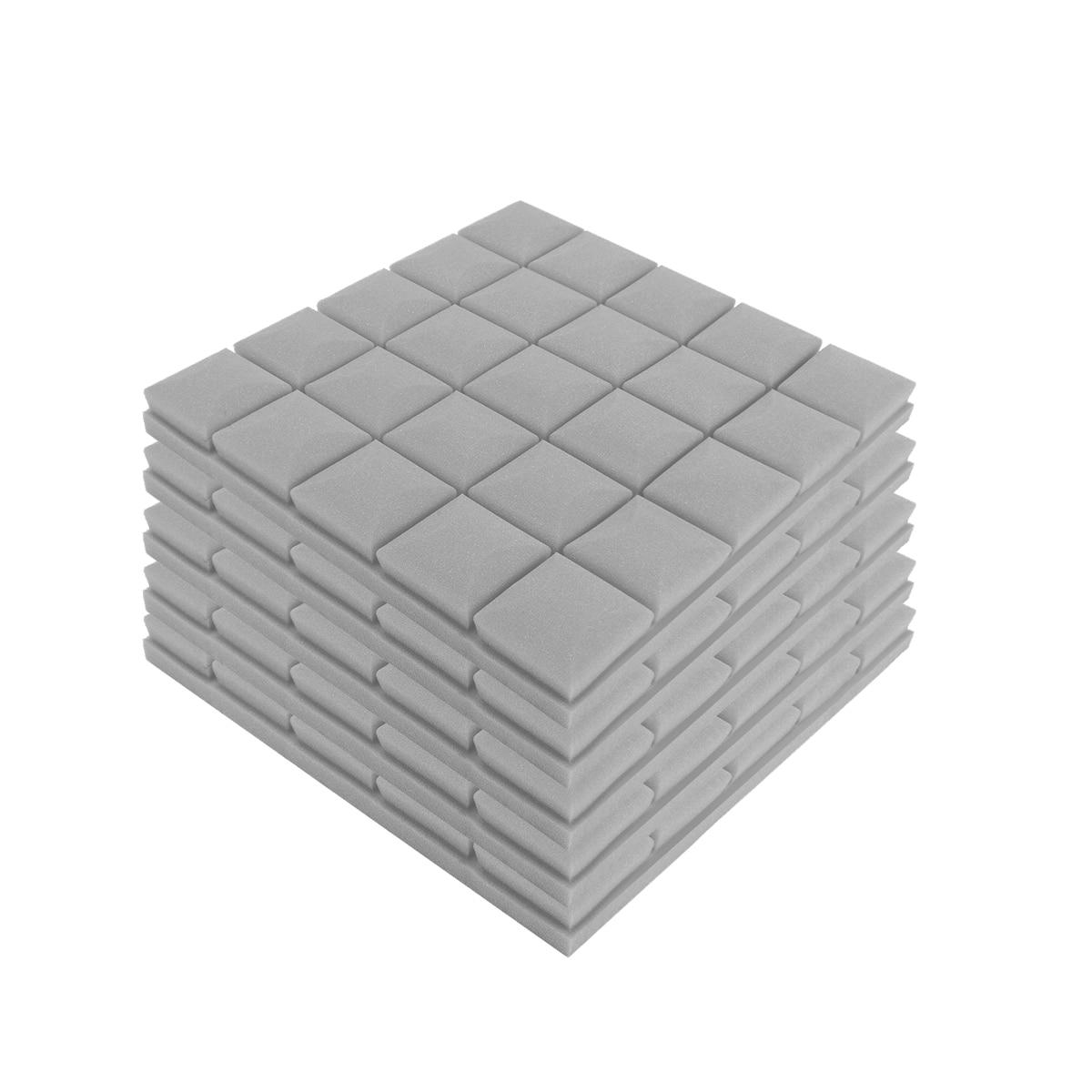 5pcs 500x500x50mm Soundproof Foam Acoustic Sound Stop Absorption Sponge Drum Room Accessories Wedge Tiles