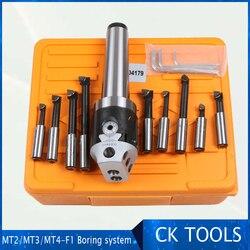 top quality MT2 M10 Arbor F1 -12 50mm boring head and 9pcs 12mm boring bars, boring head set