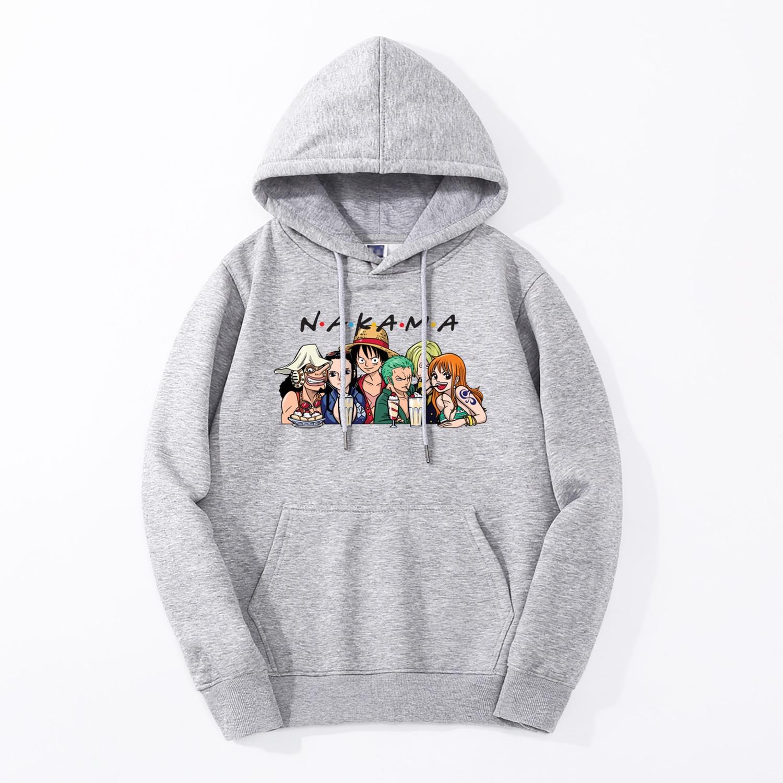The Straw Hat Pirates Funny Men Sweatshirt Japan Anime One Piece Nakama Hoodies 2019 Spring Fleece High Quality Harajuku Hoodie