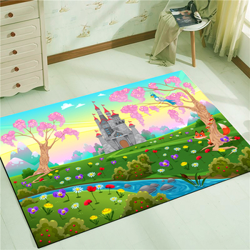 Castle Floor Mat Carpet Multi-size Decor Water Absorption Door Mat Living Room Bedroom Rug Non-slip Tapetes mandala water absorption coral fleece rug