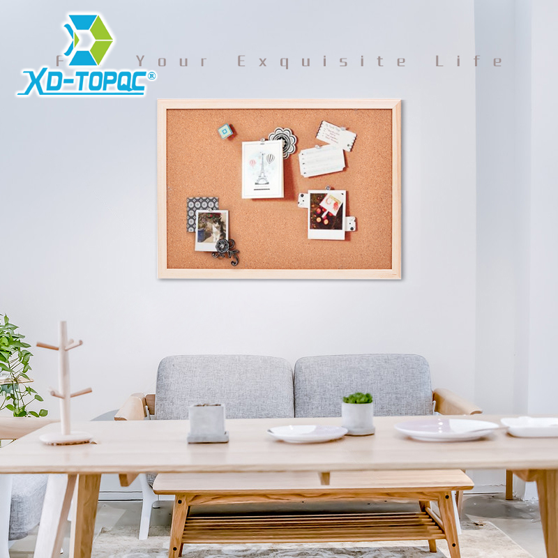 A3 Wooden Cork Board Photo Pin Board Natural Pine Wood Frame Message Board Home Decorative Bulletin Board For Note Free Shipping