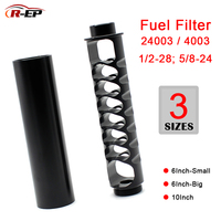 1/2 28 5/8 24 6inch 10inch Single Core Aluminum Fuel Filter Solvent Trap for NAPA 4003 WIX 24003