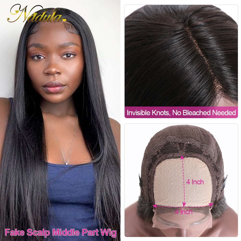 Nadula Hair Straight Lace Part  Wigs  Realistic Scalp Lace Wigs  Straight T Part Lace Wig No Knots 5