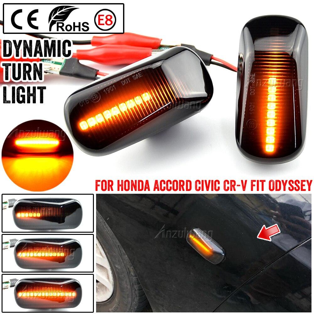 Dinámica indicador lateral lámpara de luz LED para destellear para Acura RSX DC5 NSX NA1 NA2 para Honda S2000 corriente acuerdo cívica