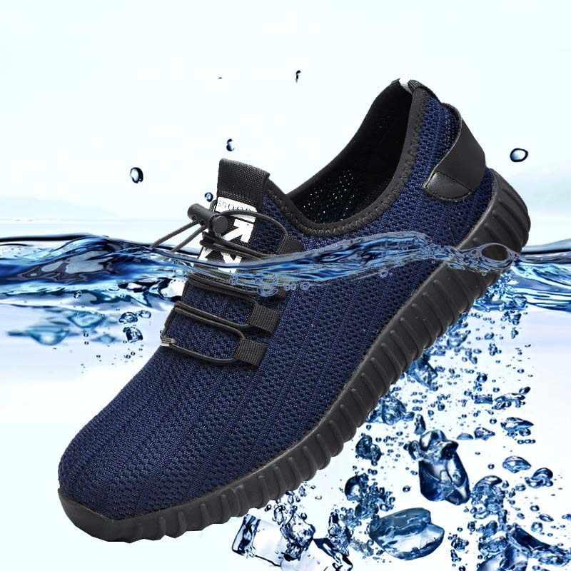 Erkekler Çelik Ayak Iş Güvenliği Ayakkabıları Nefes Açık Yıkılmaz Ayakkabı Delinme Geçirmez Çizmeler Rahat Endüstriyel Ayakkabı