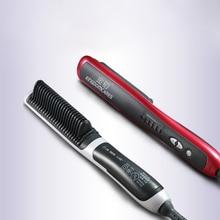 PTC Heating Electric Anti Static Ceramic Fast Hot Ionic Hair Straightening Styling Tool Irons Brush Combs Hair Straightener