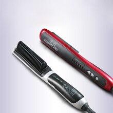 Plancha de pelo eléctrica PTC de cerámica antiestática, herramienta de estilismo iónico de calentamiento rápido