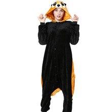 Комбинезон кигуруми из енота для взрослых девочек; пижама в виде животных; фланелевая мягкая одежда для сна; зимний комбинезон; костюм для косплея