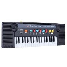 37 tuşları çok fonksiyonlu Mini elektronik klavye piyano müzik oyuncak mikrofon eğitici Electone hediye çocuklar için bebekler