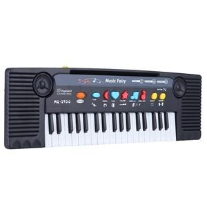 Image 1 - 37 מפתחות רב תכליתי מיני אלקטרוני מקלדת פסנתר מוסיקה צעצוע עם מיקרופון חינוכיים Electone מתנה לילדים תינוקות