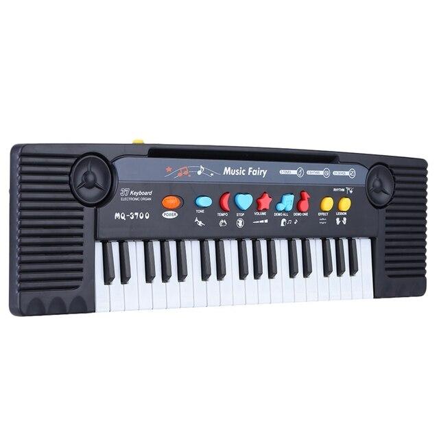 37 מפתחות רב תכליתי מיני אלקטרוני מקלדת פסנתר מוסיקה צעצוע עם מיקרופון חינוכיים Electone מתנה לילדים תינוקות