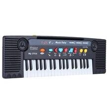 Mini teclado electrónico multifuncional de 37 teclas, Juguete musical de Piano con micrófono, regalo educativo Electone para niños y bebés
