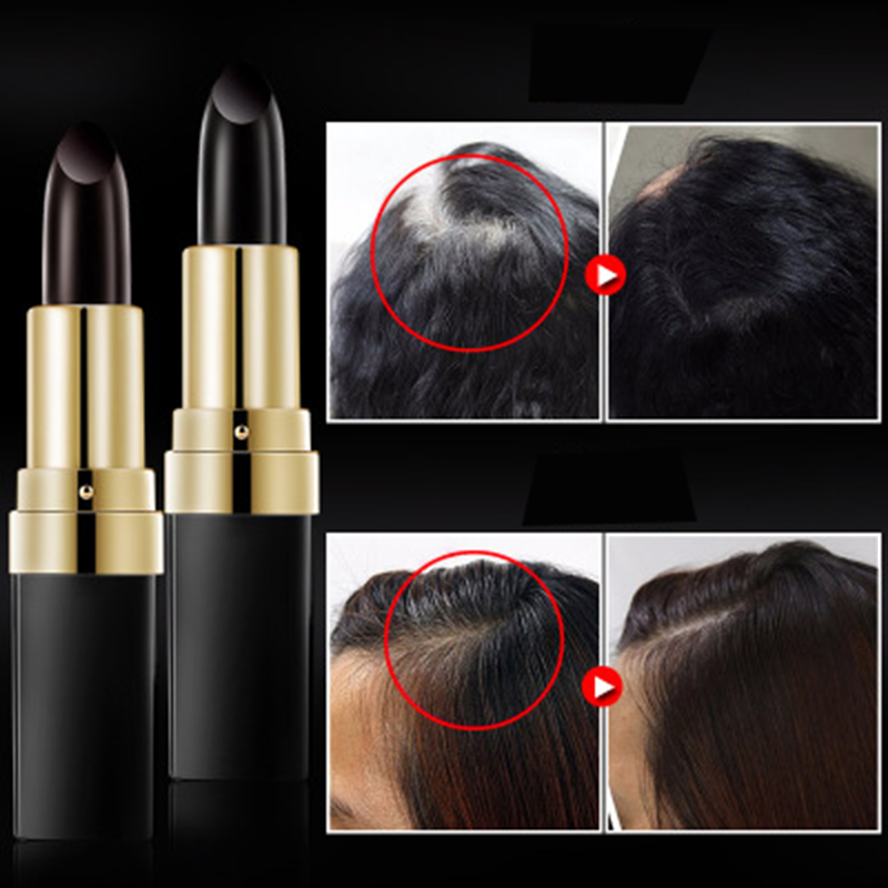 Man Women Hair Care One-Time Hair dye Instant Hair Color Modify Cream Stick Temporary Fast Cover Up White Hair Colour Dye 3.8g