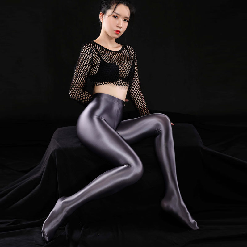 Sexy Women Plus Size Shiny Full Pencil Pants Sexy Leggings Sexy Hips Capris Sheer Full Pants Candy Color Smooth Dance Wear F24|Pants & Capris| - AliExpress