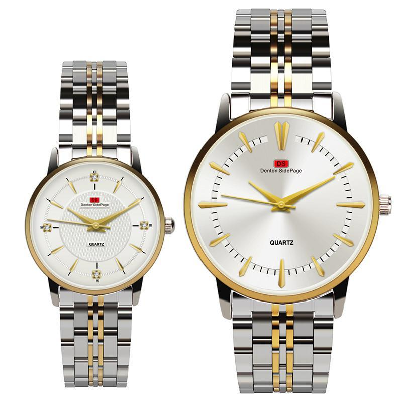 2019 Luxury Brand Watch Men Women Watches Stainless Steel Quartz Clock Couple Watches Gift For Mens Ladies