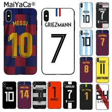 MaiYaCa camiseta de fútbol europeo DIY impresión dibujo teléfono funda para Apple iphone 11 pro 8 7 66S Plus X XS MAX 5S SE XR(China)