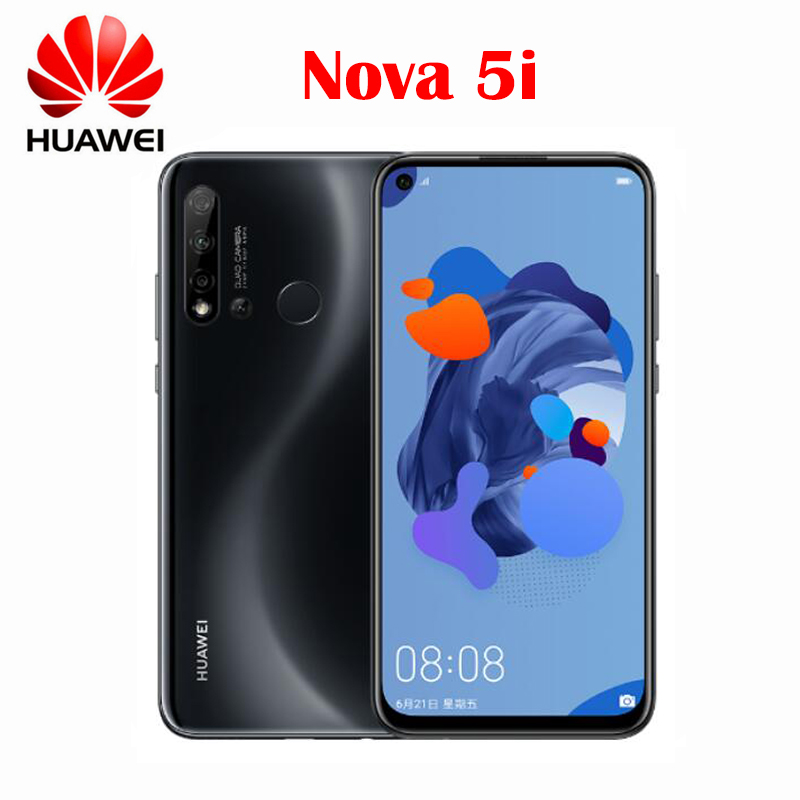 Новинка, оригинал, Huawei Nova 5i мобильный телефон 6,4 дюймов 2310X1080P 6 ГБ 128 Kirin 710 Octa Core Android OS 9,0 отпечатков пальцев 4000 мАч