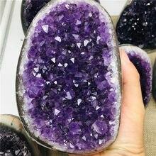Doğal Uruguay rüya ametist kuvars kristal küme numune şifa 1 adet