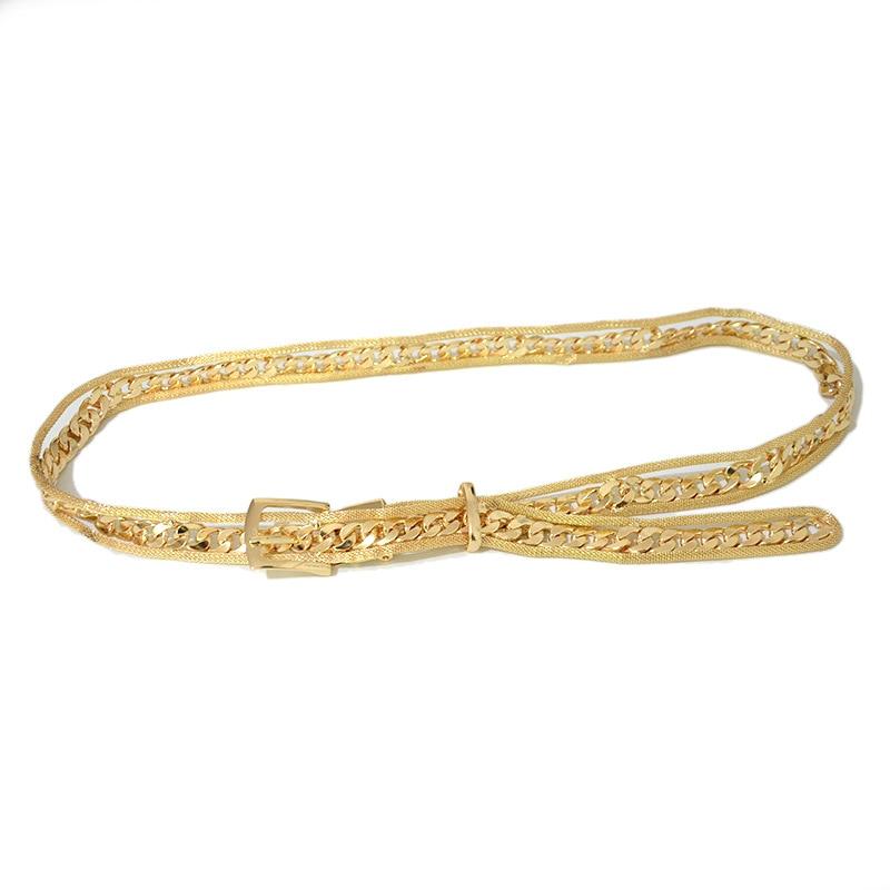 Luxury Brand 2020 New Fashion Creative Ladies Waist Chain Desinger simple Women Chain Belt Personality Trend Metal Belt Bg-1514