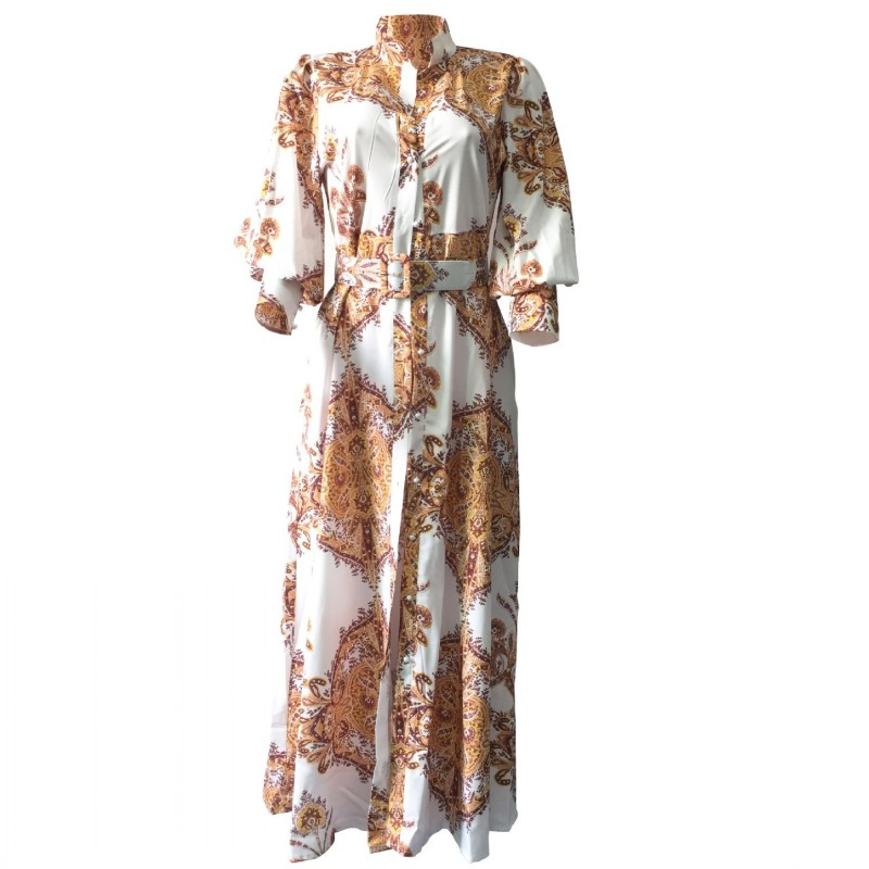 African Dresses For Women Spring Autumn Long Shirt Dress Dashiki Maxi Dresses Elegant Long Sleeve Plus Size Vestidos