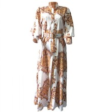 African Dresses For Women Spring Autumn Long Shirt Dress Dashiki Maxi Dresses Elegant Long Sleeve Plus Size Vestidos